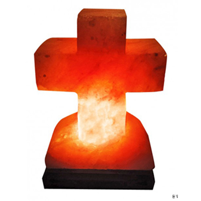 cross salt lamp